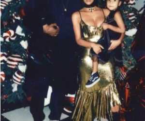 Kanye West Shares Christmas Photo With Kim Kardashian and His Kids